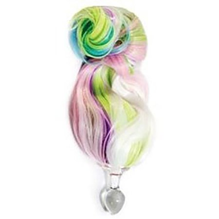 Crystal Delights 5-color PASTEL Faux Pony Tail Plug
