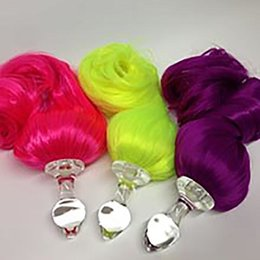 Crystal Delights Faux Pony Tail Plug, Neon Colors