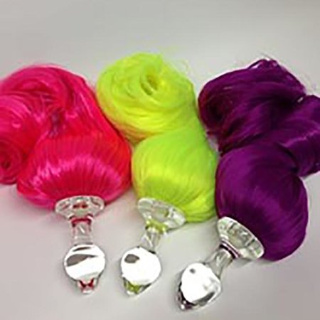 Crystal Delights Crystal Delights Faux Pony Tail Plug, Neon Colors