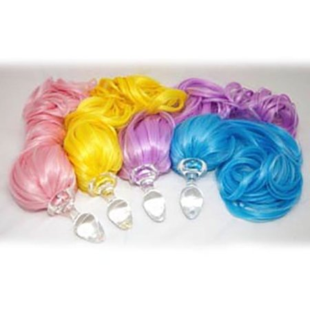 Crystal Delights Faux Pony Tail Plug, Pastel Colors