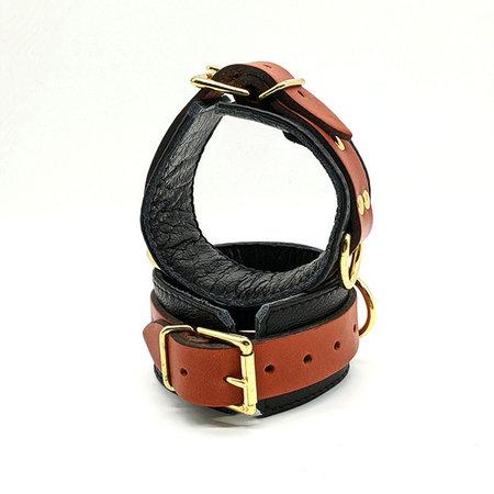 Aslan Brass and Tan Cuffs