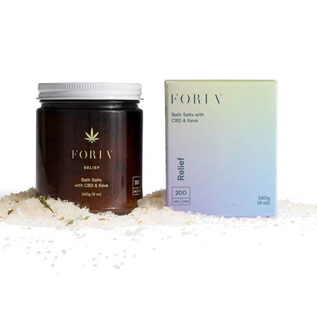 Foria Relief Bath Salts with CBD and Kava