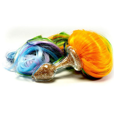Crystal Delights Sparkle Pony Tail Plug, 5 color Primary