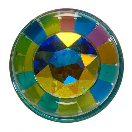 Funfetti Plug with Aurora Borealis Crystal
