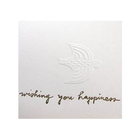 Egg Press Wishing You Happiness Greeting Card