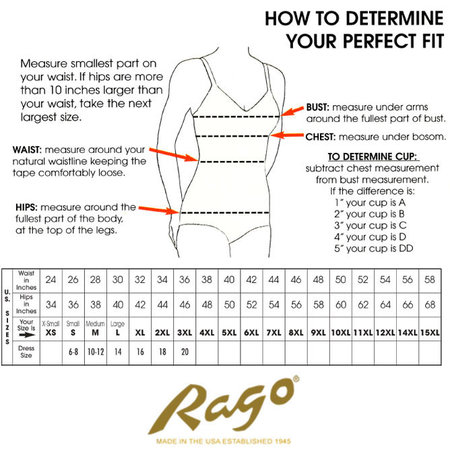 Rago Firm Shaping Waist Cincher, 821 Black
