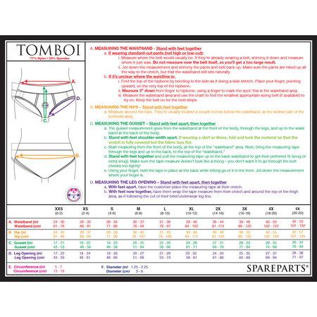 Tomboi Brief Harness Nylon, Black