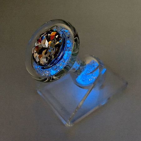 Crystal Sparkle Glow-In-The Dark Plug, Blue