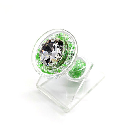 Crystal Sparkle Glow-In-The Dark Plug, Green