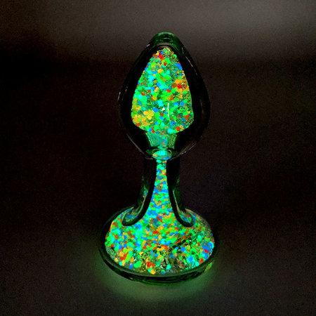 Crystal Sparkle Glow-In-The Dark Plug, Multi Tooti Fruiti