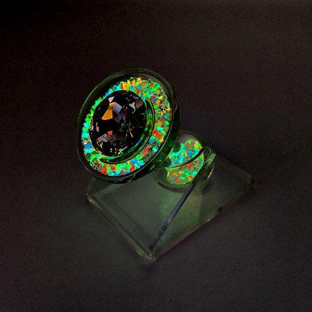 Crystal Sparkle Glow-In-The Dark Plug, Multi