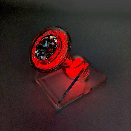 Crystal Sparkle Glow-In-The Dark Plug, Orange