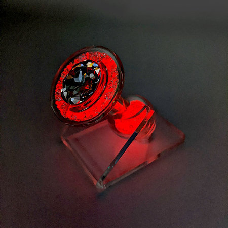 Crystal Sparkle Glow-In-The Dark Plug, Red Cherry Bomb