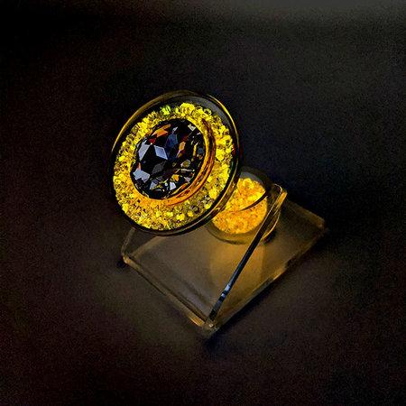 Crystal Sparkle Glow-In-The Dark Plug, Peach
