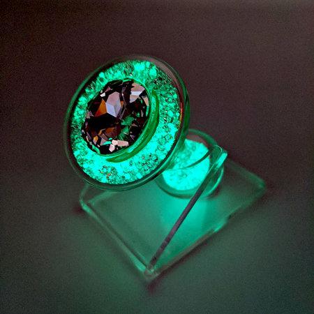 Crystal Sparkle Glow-In-The Dark Plug, Teal