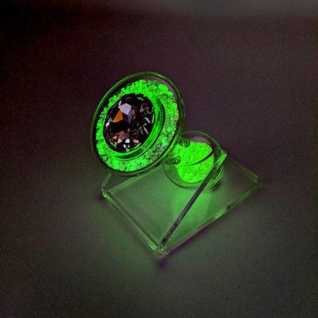 Crystal Sparkle Glow-In-The Dark Plug, Yellow