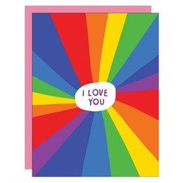 Rainbow I Love You Greeting Card