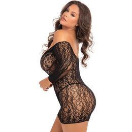 Demure Long Sleeve Mini Dress 7087