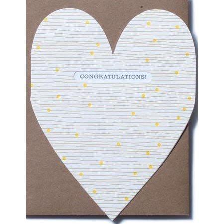 Congratulations Heart Greeting Card