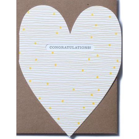 Egg Press Congratulations Heart Greeting Card