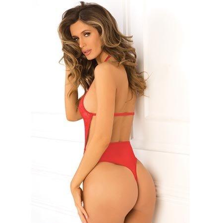 Hot Pursuit Lace Bodysuit 502140, Red