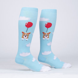 Stretch It Pup Pup and Away Wide Calf Knee Socks