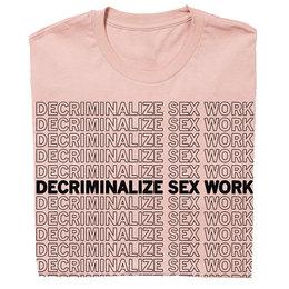 Decriminalize Sex Work T-Shirt Fitted Hourglass Cut