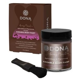 System Jo Dona Kissable Body Paint, Chocolate Mousse