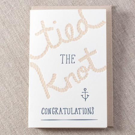 Tied the Knot Greeting Card