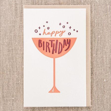 Happy Birthday Cup Greeting Card