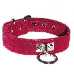 Velvet O-Ring Collar, Burgundy