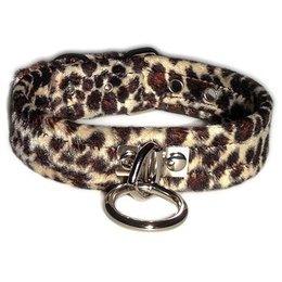Velvet O-Ring Collar, Leopard