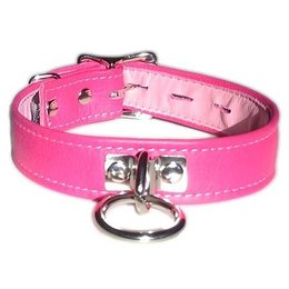 Locking Buckle Collar with O-Ring, Pink
