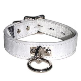 Kookie Locking Buckle Collar with O-Ring, White