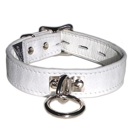 Kookie Locking Buckle Collar with O-Ring, White