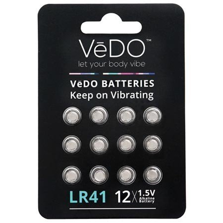 Vedo LR41 Batteries, 12-pack