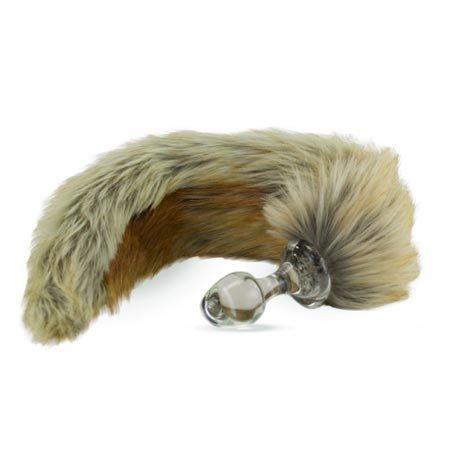 Crystal Minx Faux Fur Tail Plug, Red Fox