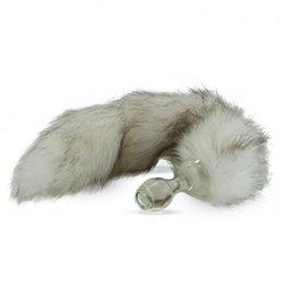 Crystal Minx Faux Fur Tail Plug, Siberian Husky