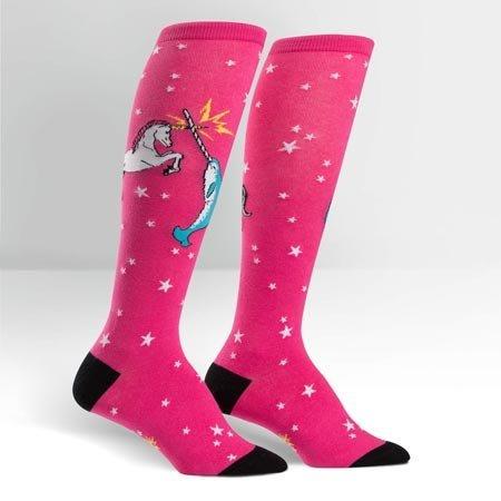 Sock It To Me Unicorn vs. Narwhal Knee Socks