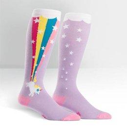 Sock It To Me Stretch It Rainbow Blast Wide Calf Knee Socks