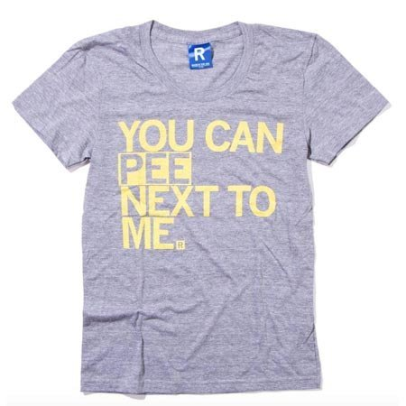 You Can Pee Next To Me T-Shirt Fitted Hourglass Cut