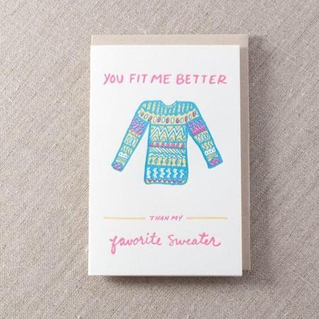 Pike Street Press Favorite Sweater Greeting Card