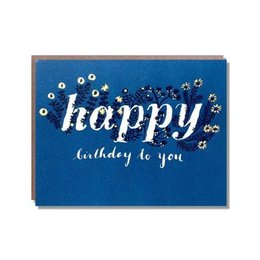 Egg Press Foil Wildflower Birthday Greeting Card