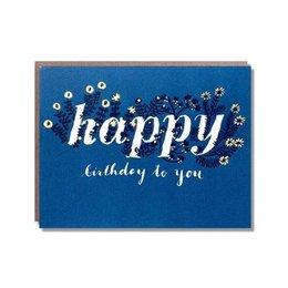 Egg Press Foil Wildflower Birthday Greeting Card