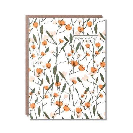 Tulip Garden Wedding Greeting Card