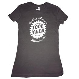 Tool Shed Tool Shed T-Shirt Fitted Hourglass Cut, Asphalt