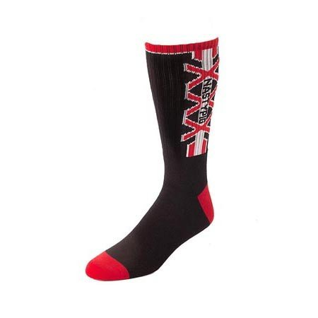Nasty Pig Nasty Pig XXX Socks 7395, Black/Red
