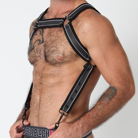 CellBlock 13 Cell Block 13 Rogue Harness CBS083, Black/White