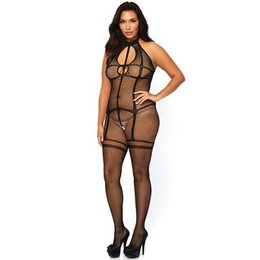 Leg Avenue Fishnet Bodystocking with Garter Illusion 89226Q