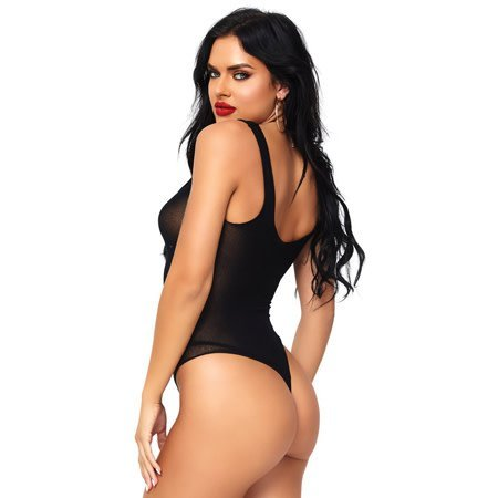 Opaque Lace Up Thong Teddy 81555